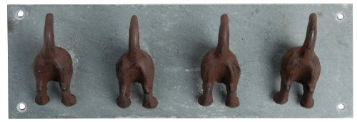 Cheap  Esschert Design USA LH151 Slate Dog Tail Wall Hooks