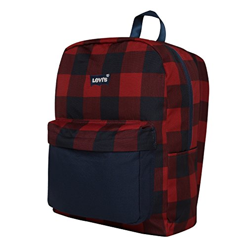 - Levi's Boys' Big Classic Logo Backpack, Dress Blues Red Plaid, O/S