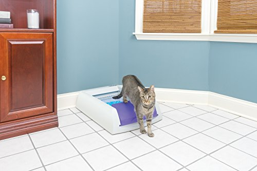 PetSafe-ScoopFree-Original-Self-Cleaning-Cat-Litter-Box-Automatic-with-Disposable-Litter-Tray-and-Blue-Crystal-Cat-Litter-2-Color-Options