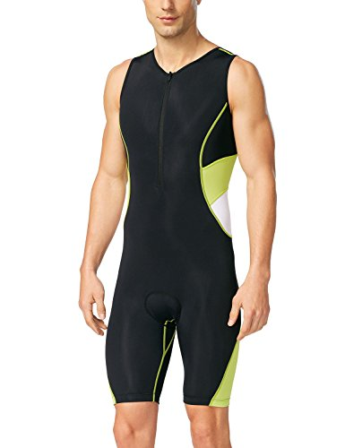 Baleaf Men's Triathlon Tri Race Suit UPF 50+ Black Yellow Size - Suits Triathlon Speed