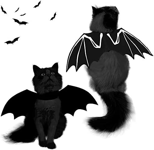 Spooktacular Creations Halloween Bat Wings Cat Pet Costume for Cosplay Party, Halloween Party Decoration, Holiday Decorations Clothing, Cat Dress Up Accessories 15
