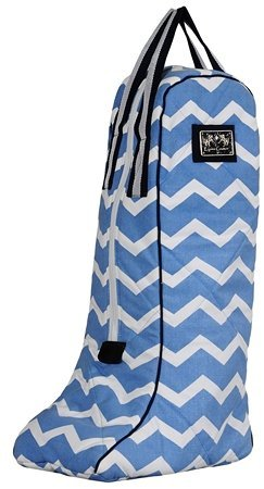 Equine Couture Abby Boot Bag, Light Blue/Navy, Standard