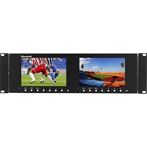 Marshall Lcd Racks - Marshall Electronics M-LYNX-702-V3, Dual 7 Inch 3RU LCD Rack Mount Monitor