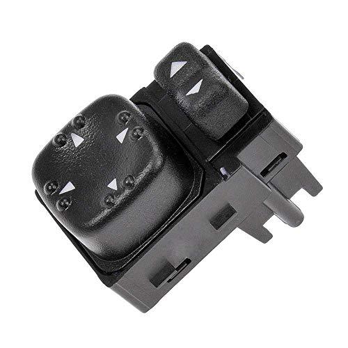 901124 Power Mirror Switch for Chevy Silverado GMC Sierra 2000 2001 2002, Replace# 15045085, - 2002 Escalade Cadillac Mirror