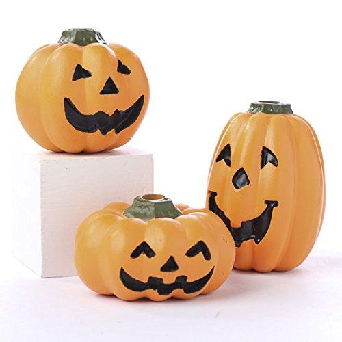 Factory Direct Craft 12 Assorted Style Resin Jack O Lantern Pumpkins