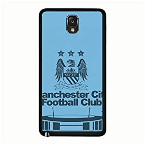 Modern Creative Man City Manchester City FC Logo Samsung Galaxy Note 3 N9005 Mobile Phone Cover Case EPL Football Club Series Official Manchester City Football Club Logo Phone Case Cover MCFC Logo