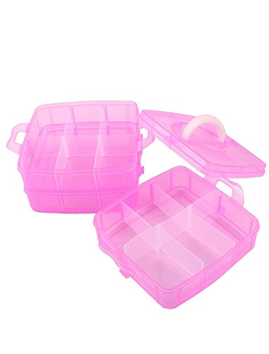 carry-handle-triple-layers-18-sections-separable-storage-case-fuchsia