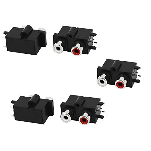- Audio Video 2 RCA Female Jack Socket Chassis PCB Mount Connectors 5pcs