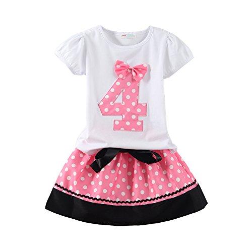 Mud Kingdom Little Girls Birthday Outfits I Am 3 Year Pink Unicorn 4T by Mud Kingdom (Image #1)