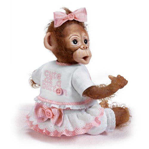 Cindy Sales Poseable Baby Monkey Doll Cute As A Button