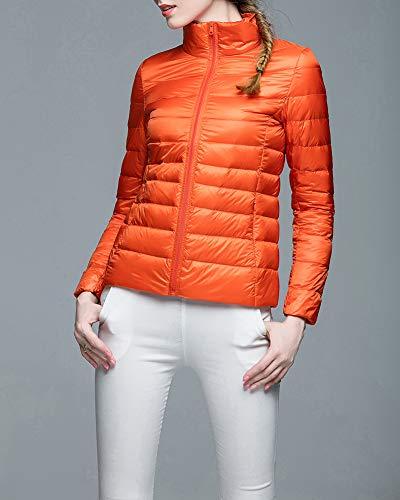 Piumini Guocu Taglia Piedi Donna Collare Larga Arancione In Leggero UOUPBg1