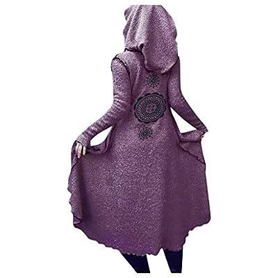 Women Teddy Velvet Hoodie Jacket Coat SFE Spring Winter Bohemian Print Long Soft Warm Cardigan Coat Plus Size: Clothing