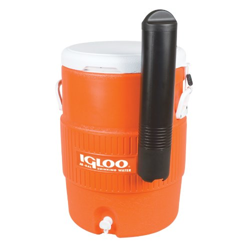 Igloo 42021 Seat Top Beverage Dispenser with Spigot and Cup Dispenser, 10-Gallon