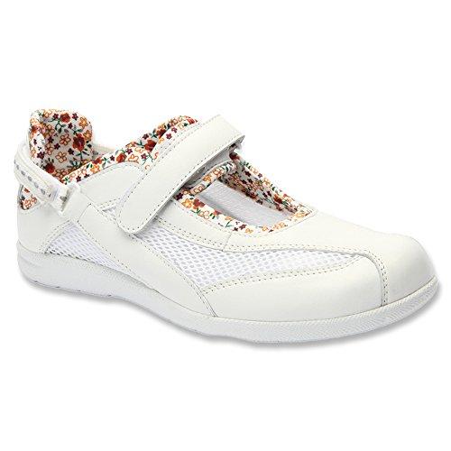 White Leather Women's Smooth Shoe Drew Joy BYgWfcPq8n