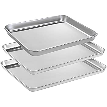 Amazon Com Small Baking Sheets Pans Heahysi Mini