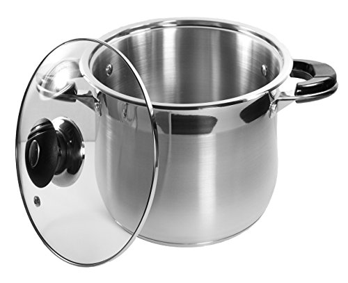 10 Qt Stock Pot 18/10 Stainless Steel Super Double Capsulate
