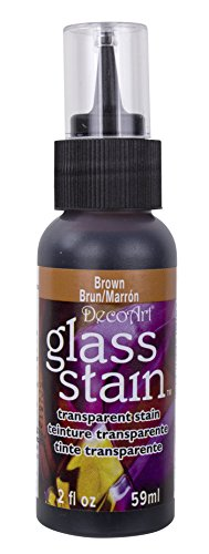 Transparent Glass Stain 2 Ounces-Brown (Stain Tip Transparent Kit)