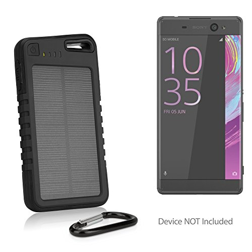 Sony Xperia XA1 Ultra Battery, BoxWave® [Solar Rejuva PowerPack (5000mAh)] Solar Powered Backup Power Bank for Sony Xperia XA1 Ultra - Jet Black