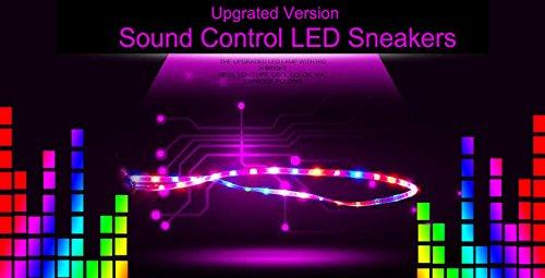 Men Black01 Rechargeable Light up Women TZTONE LED Contol Sound Sneakers LNSCDYZ USB Shoes for vgqFpU
