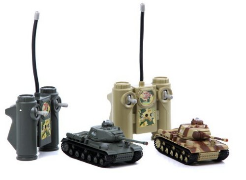 (HuanQi Radio Remote Control IR Infrared Battle Tanks with Sound & Light Set of)