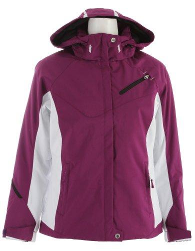 Descente Kelsey Ski Jacket Amethyst/Super White/Amethyst/Black Womens Sz (Descente Black Jacket)
