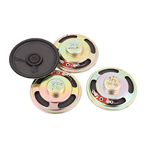 uxcell 0.5W 8 Ohm 50mm Diameter Internal Magnet Speaker Loud