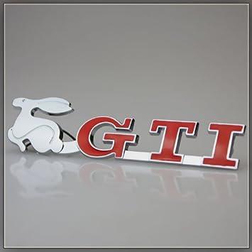 GTI - Emblema decorativo para barbacoas, diseño del conejo de Golf GTI 5 6 R6 4 1 2 VR6 Polo Jubi golf: Amazon.es: Coche y moto