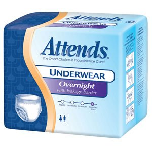 48APPNT30CA - Attendsreg; Discreet Day/Night Extended Wear Underwear, Large 38 to 50 (previously 44 to 58)