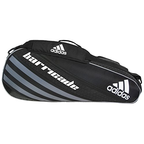 Price comparison product image adidas Barricade IV Tour 3 Racquet Bag, Black/Dark Silver, One Size