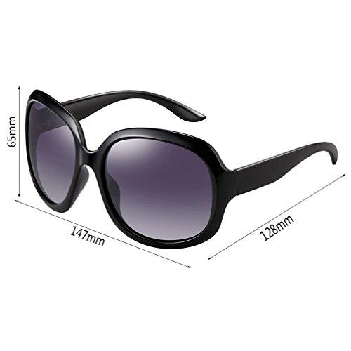 New Mesdames Retro Box Des lunettes de soleil HL Fashion Big Polarizer wXX1RpqBW
