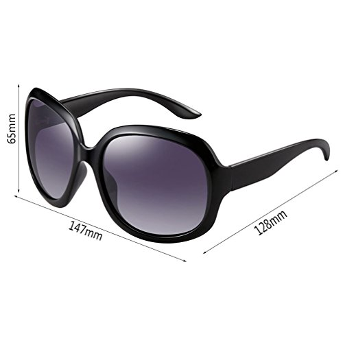 Fashion Mesdames Des Big Box Retro lunettes de New soleil Polarizer HL II1SwYg