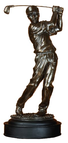 Golf Collectible (Deco 79 Poly-Stone Male Golfer, 16 by 7-Inch)