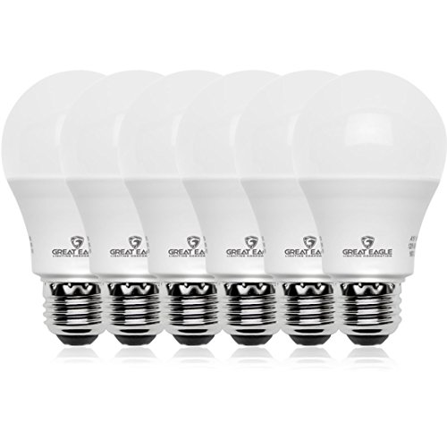 Cheap Great Eagle 100W Equivalent LED Light Bulb 1600 Lumens A19 4000K Cool White Non-Dimmable 14-Watt UL Listed (6-Pack)