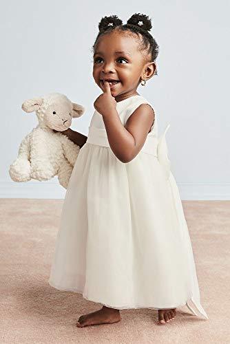 06023c2575 David's Bridal Sleeveless Satin Flower Girl/Communion Dress with Full Skirt  Style S1038
