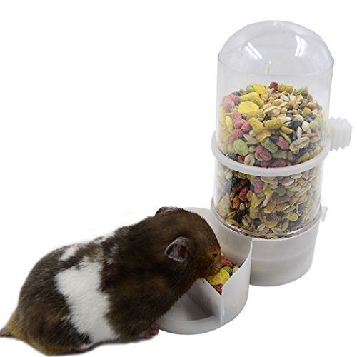 Onpiece Bird Pet Drinker Feeder Automatic Food Waterer Clip Aviary Cage Parrot (Squirrel Automatic Bird Feeder)