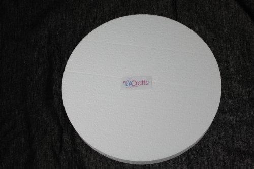 Foam Disc - LA Crafts Brand 10x1 Inch Smooth Foam Craft Disc - 12 Pack