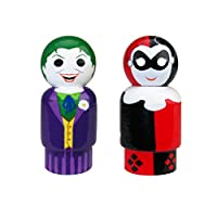 Bif Bang Pow! The Joker & Harley Quinn Pin Mate Wooden Figures Set of 2 Collectible, 2""