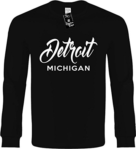 Funny Long Sleeve Size 2X (Detroit Michigan (city state) - Detroit Shopping Michigan In