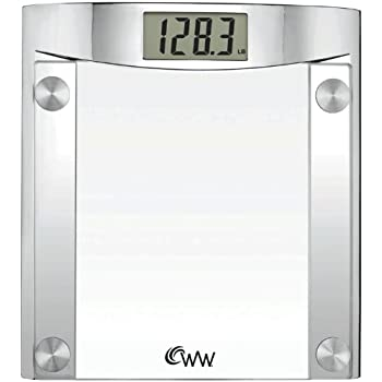 Weight Watchers By Conair Digital Glass Bathroom Scale 400 Lb Capacity High
