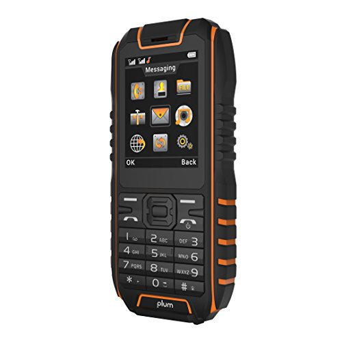 Rugged Cell Phone Unlocked GSM  Waterproof Shockproof Powerful Battery Flashlight Military Grade IP68 Certified Black Orange