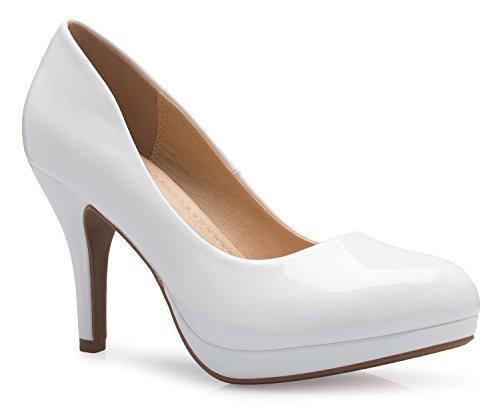 ssic Round-Toe Platform Pumps Stiletto Dress High Heels ()