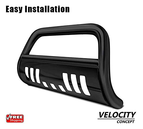 Velocity Racing Black Heavy Duty Steel Bull Bar Brush Push Bumper Grill Guard 08 09 10 Jeep Grand Cherokee ()