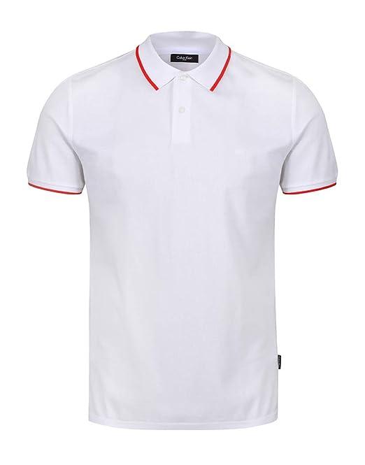 Calvin Klein - Polo - para Hombre Blanco White M: Amazon.es: Ropa ...