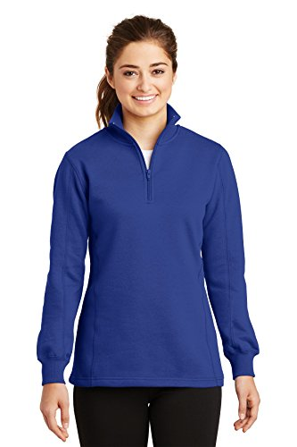 Sport-Tek Women's 1/4 Zip Sweatshirt L True Royal