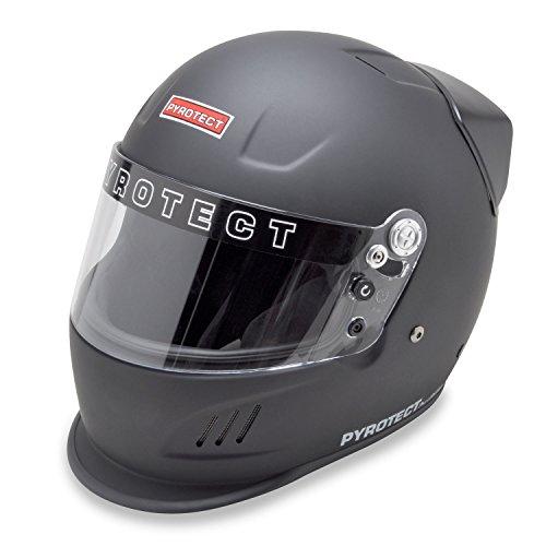 Pyrotect 9082005 Pro Airflow SA2010 Full Face Helmet, Medium, Flat Black