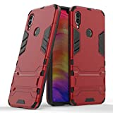 DWaybox XIAOMI Redmi Note 7 / Redmi Note 7 Pro/Redmi Note 7S 6.3 Inch Case Cover 2 in 1 Hybrid Armor Hard Back Case Cover with Kickstand(Marsala Red)
