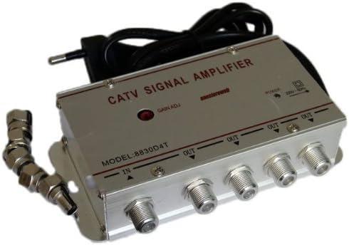 Splitter - Amplificador de señal de TV, 4 canales
