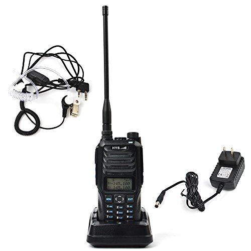 TC-589 Dual Band Two Way Radio VHF UHF Walkie Talkie 10W High Power Amateur Handheld Transceiver Dual Display Ham Radio with 2pin Air Acoustic Tube Earpiece (Walkie Talkies 10 Watt)