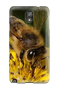 Galaxy Note 3 Case Cover - Slim Fit Tpu Protector Shock Absorbent Case (bees )