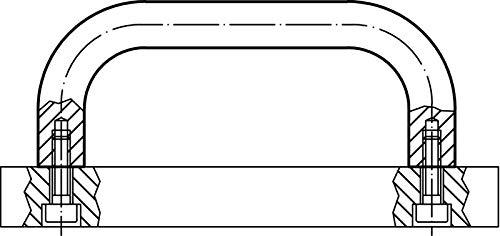b=26 mm//l=125 mm HALDER 24300.0346 B/ügelgriffe//Aluminium Schwarz